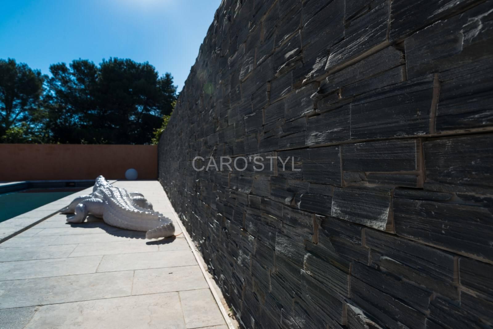 Mur Parement Interieur Ardoise construire un mur extérieur, avec de la pierre de parement